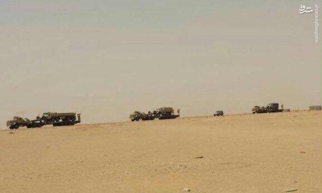 کاروان تسلیحاتی سنگین سعودیها در راه یمن+عکس