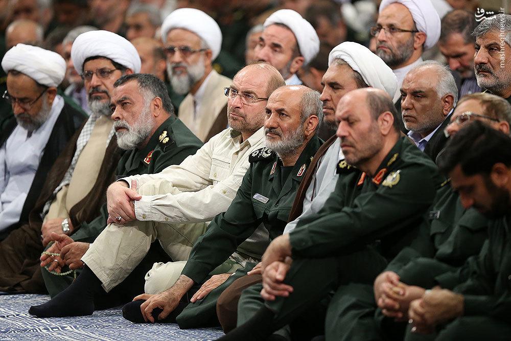 عکس/ قالیباف در دیدار فرماندهان سپاه با رهبر انقلاب