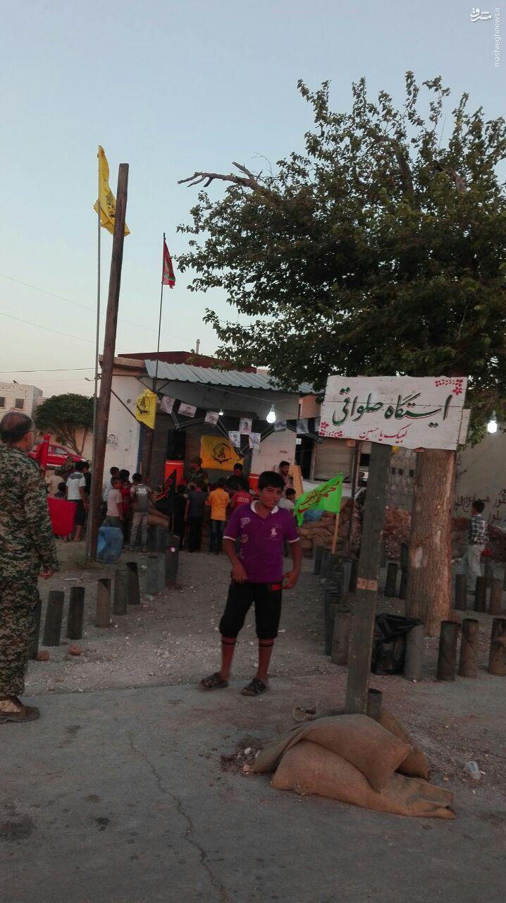 ایستگاه صلواتی رزمندگان فاطمیون در حلب+عکس