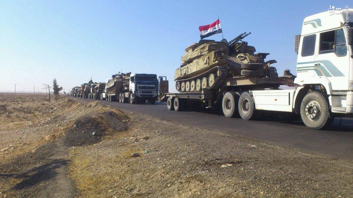 اعزام گسترده نیرو و تجهیزات به جبهه حلب