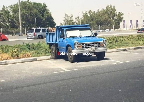 عکس/ نیسان آبی مشهور ایران در دبی