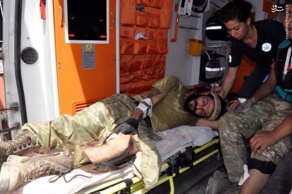 انتقال مجروحان گروه تروریستی ارتش آزاد به ترکیه+عکس