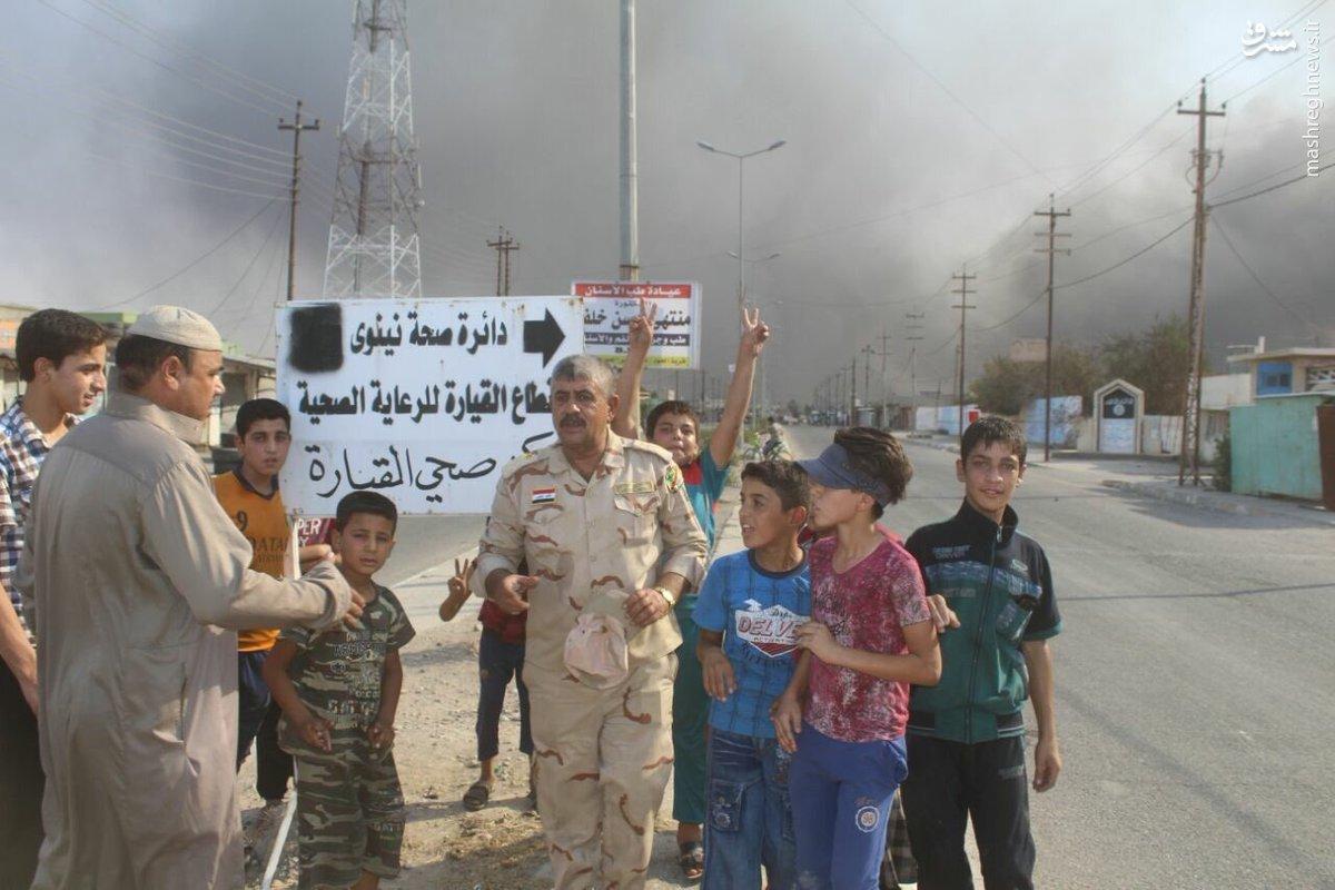 استقبال مردم قیاره از ارتش عراق+عکس