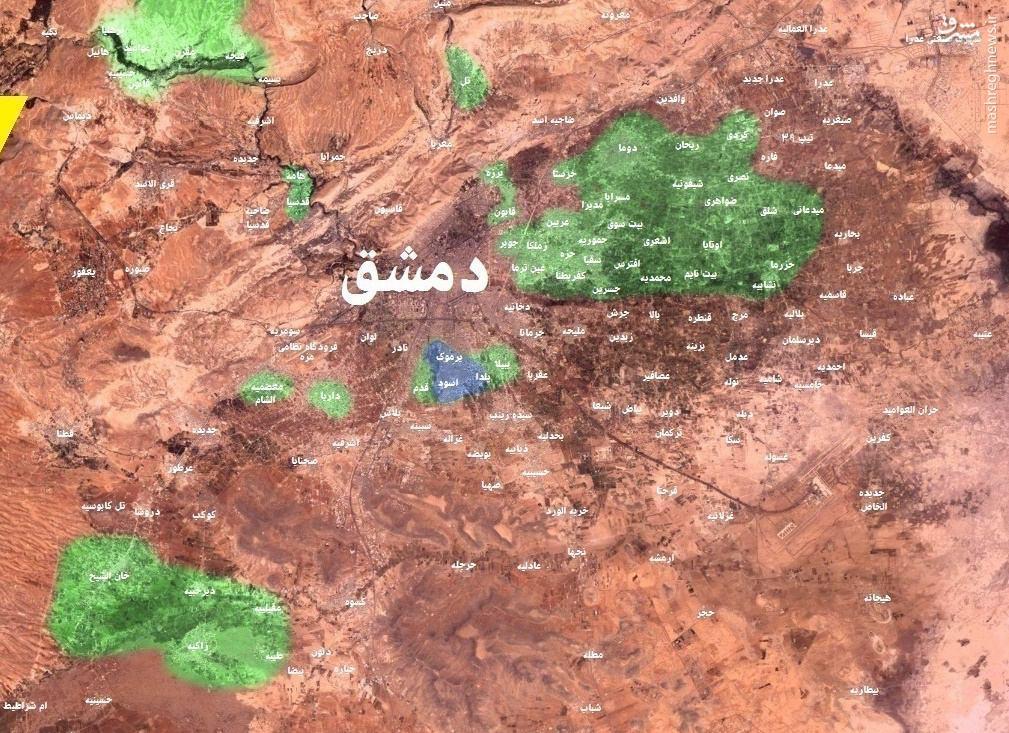شادی رزمندگان سوری از پاکسازی داریای دمشق+عکس