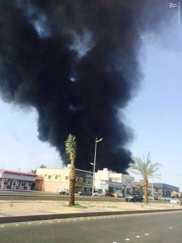 موشکباران شرکت آرامکوی عربسان در نجران+عکس
