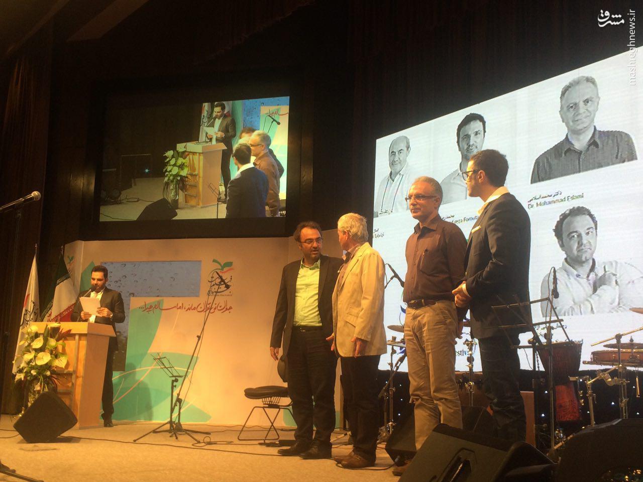 تقدیر از رامبد جوان در اختتامیه جشنواره فیلم سلامت