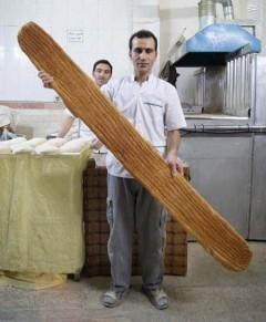 عکس/ بزرگترین نان بربری