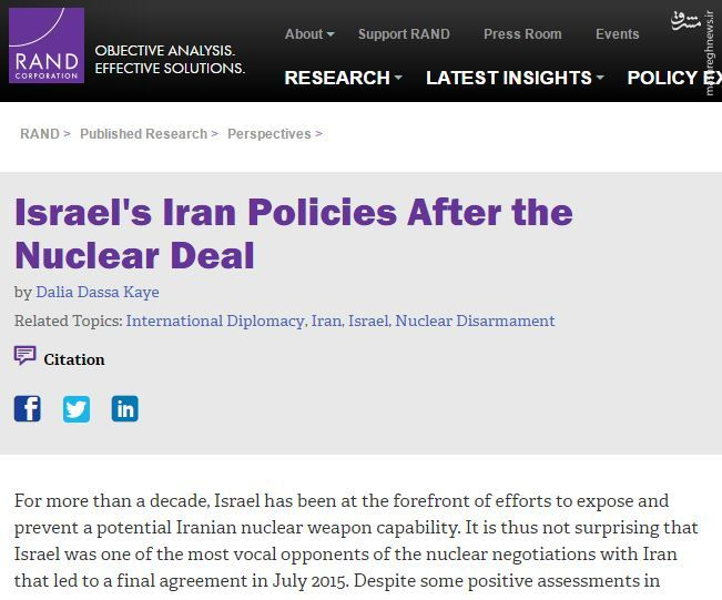 سیاستهای اسراییل در قبال ایران در فضای پسا برجام