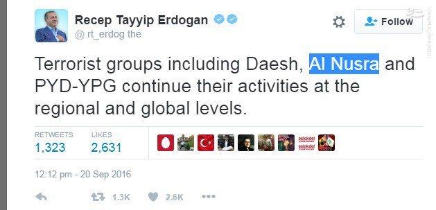 اردوغان:جبهه النصره تروریست است+عکس