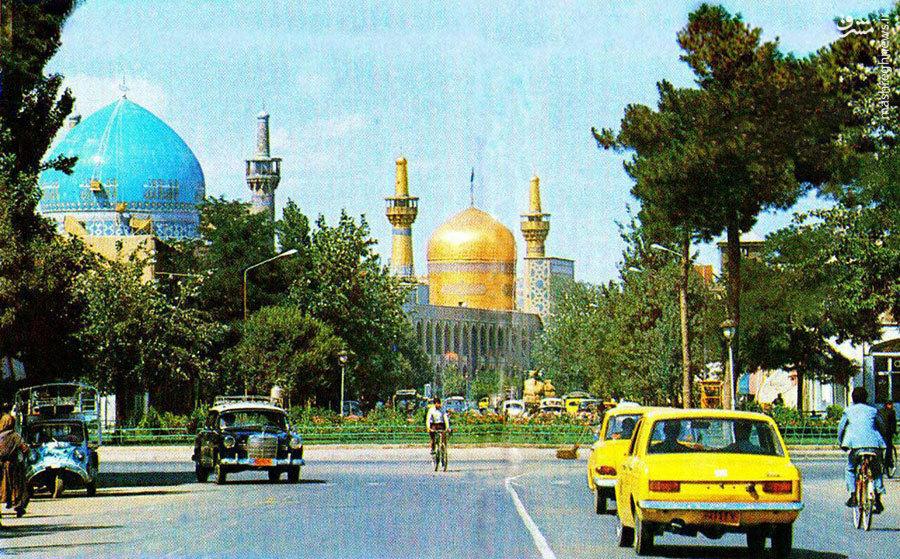 عکس/ مشهد/ دهه چهل/ خیابان زیبای امام رضا (ع)