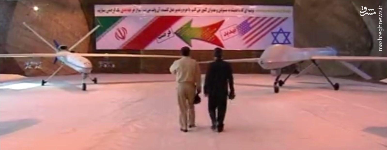 «صاعقه» جدیدترین پهپاد رزمی ساخت ایران رونمایی شد/ عقاب خاکستری یانکی ها در اسارت سپاه+عکس