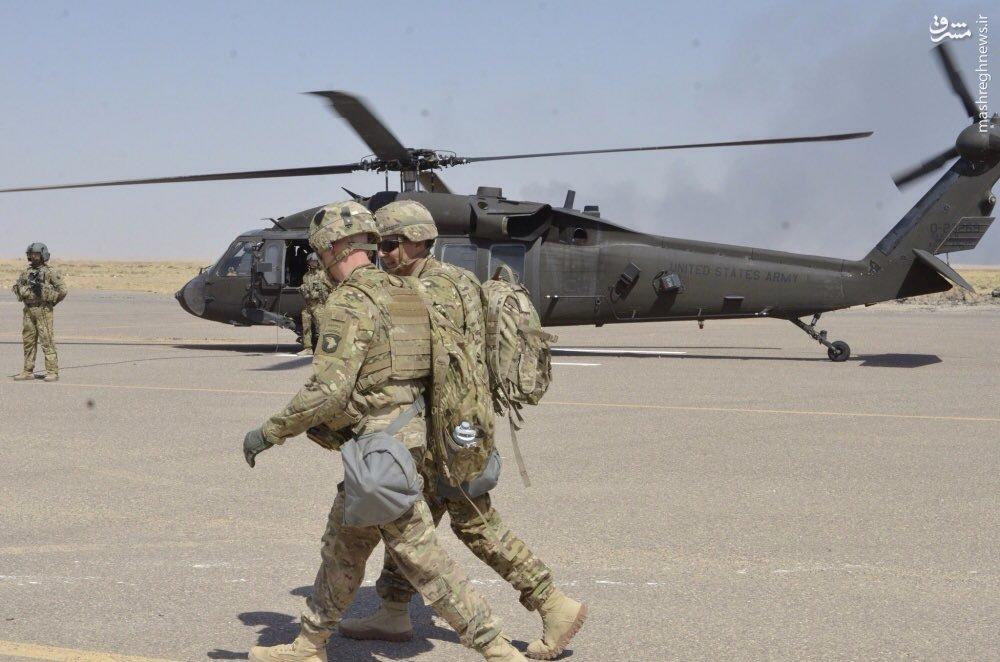 کاروان بزرگ تسلیحات و نظامیان آمریکایی در قیاره عراق+عکس