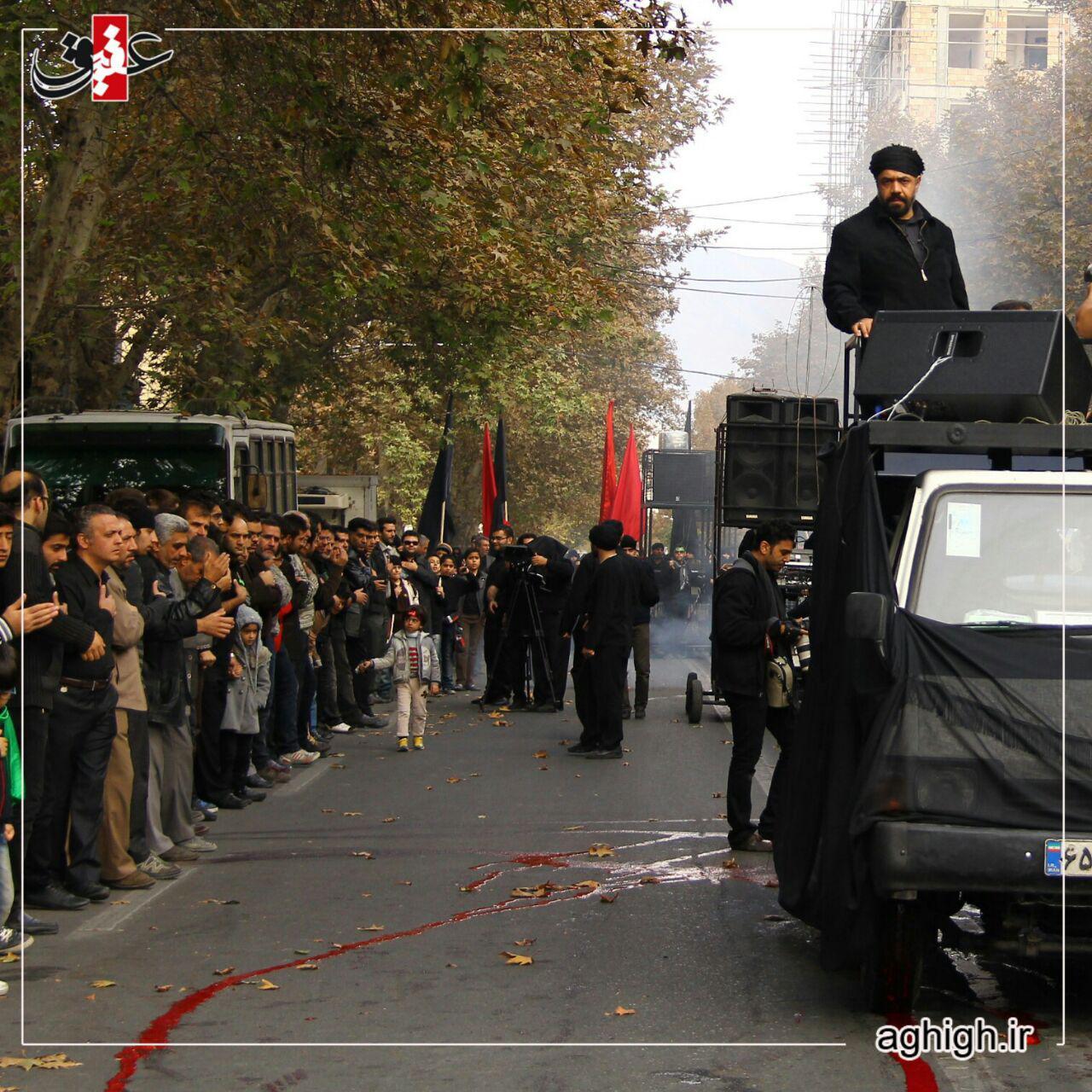 عکس/ حاج محمودکریمی در دسته عزادارای