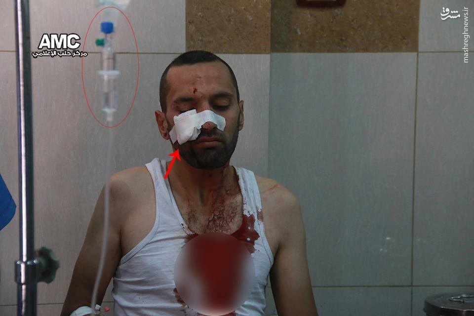 صحنه سازی حمله به بیمارستان حلب توسط القاعده+عکس