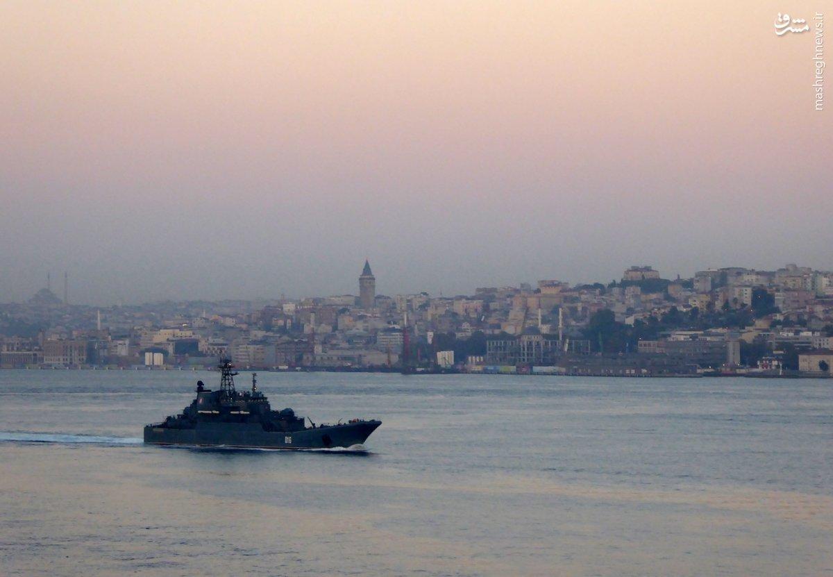 عبور ناو نظامی روسی از تنگه بسفر ترکیه+عکس