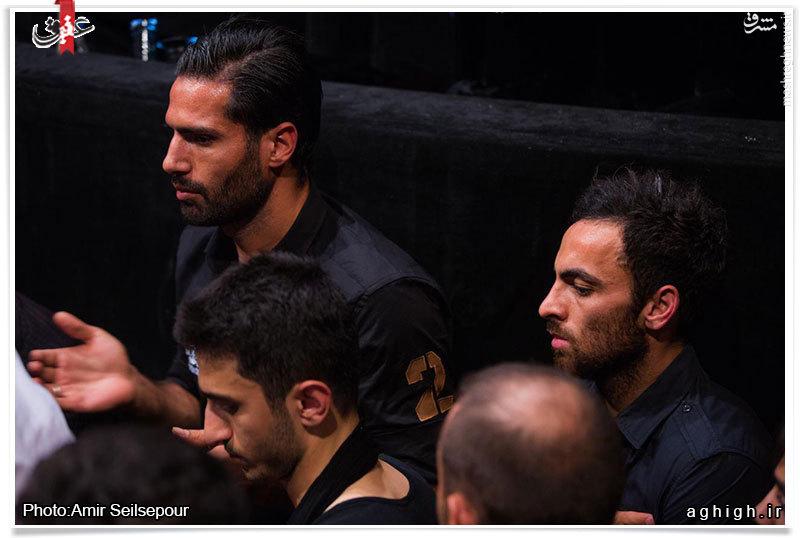 امیرحسین صادقی در مراسم عزاداری حسینی