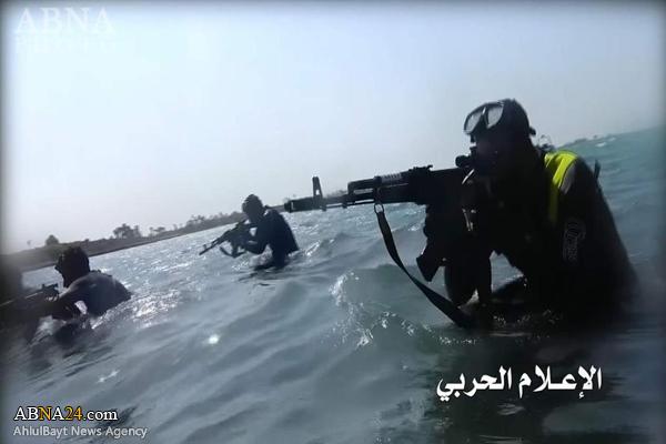 قدرت نمایی ارتش یمن در سواحل+عکس