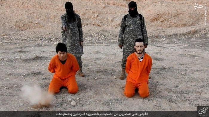 ذبح اسرای ارتش سوریه بدست داعش+عکس