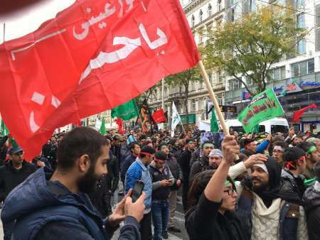 مراسم عزاداری امام حسین(ع) در شهر وین +عکس