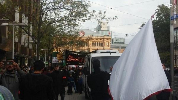 دسته عزاداران حسینی در خیابان های آلمان +عکس