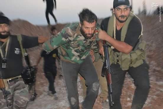 اسارت تروریستها در جنوب حلب+عکس