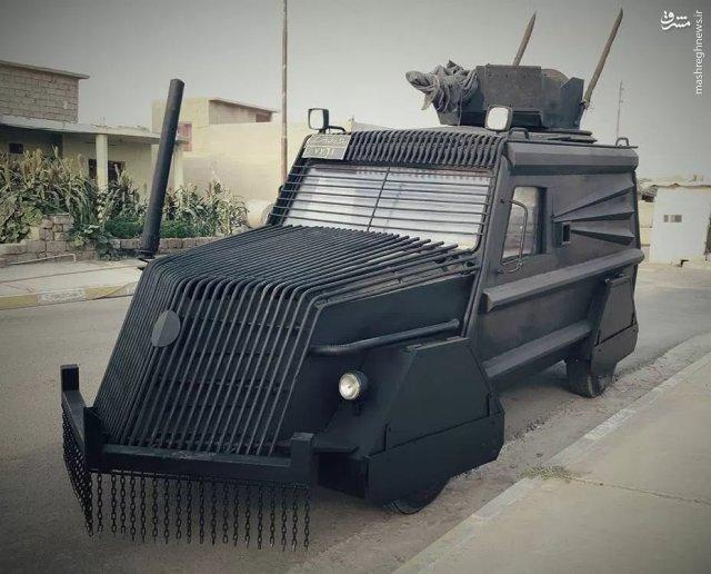 عکس/ خودروی ویژه پیشمرگها برای نبرد موصل