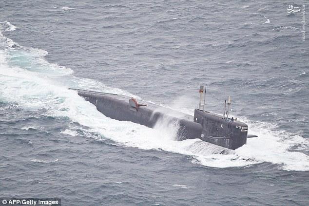 عکس/ زیردریایی حامل موشک قاره پیما در راه سوریه