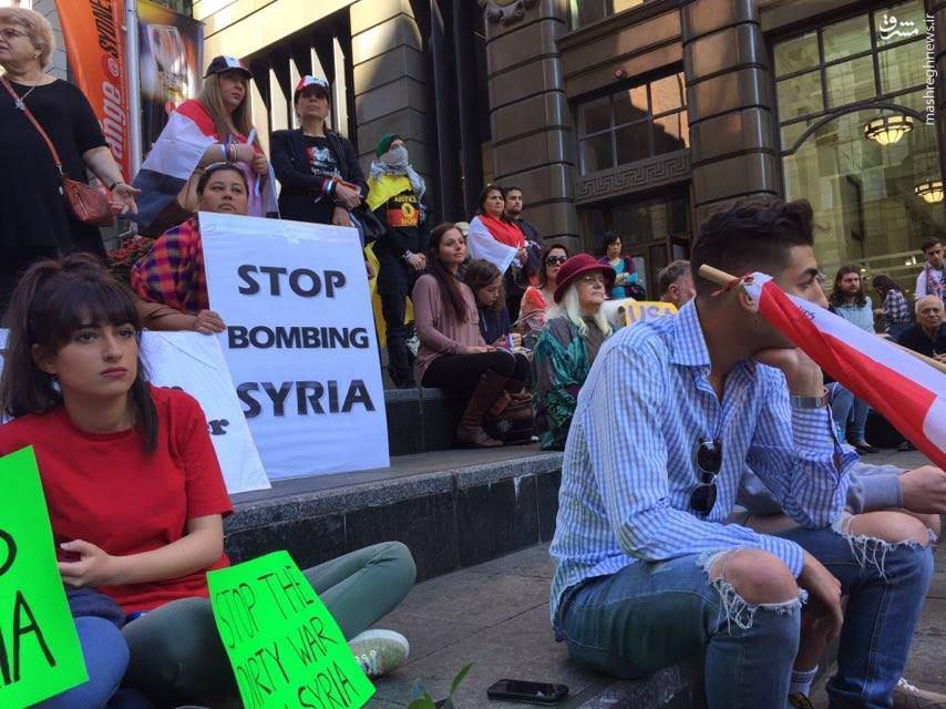 حمایت سوریهای مقیم استرالیا از دولت+عکس