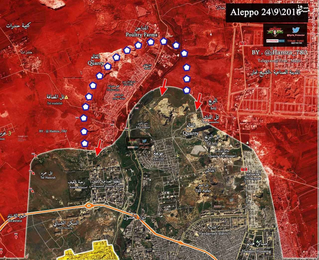 سیطره ارتش سوریه بر اردوگاه حندرات/پیشروی القاعده در شمال حماه/ ورود ارتش به محله شیخ سعید حلب/ادامه پاکسازی غوطه شرقی/برای قبل 12 اماده اس