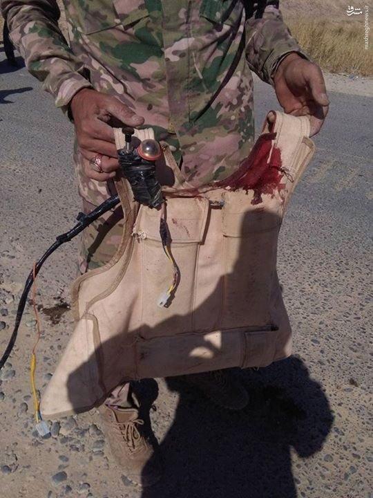 انتحاری ناکام داعش در شمال بغداد+عکس