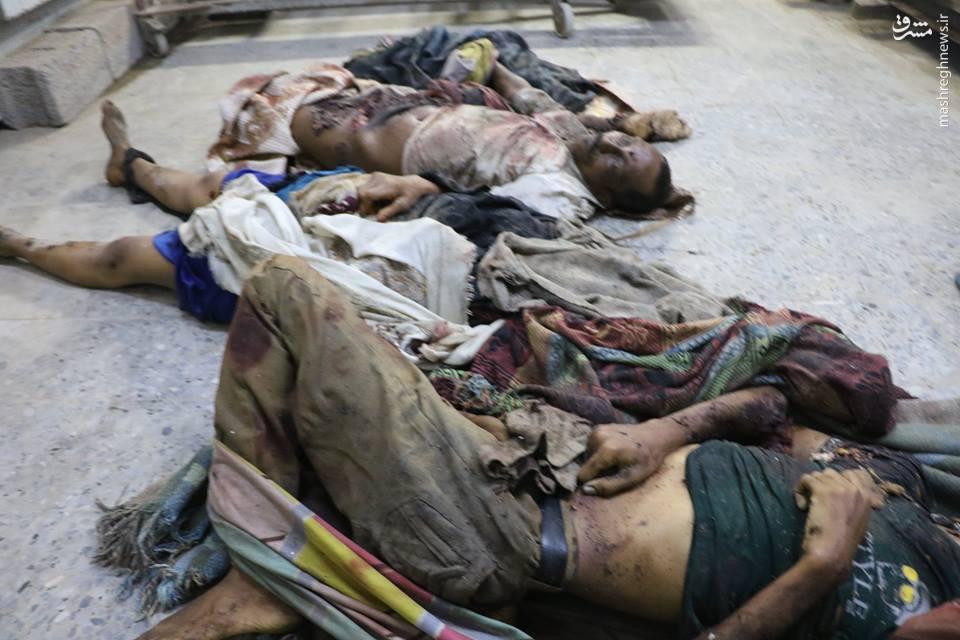 کشتار غیرنظامیان در استان اب یمن+عکس 18+