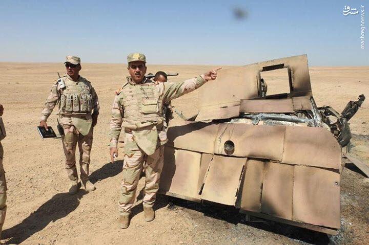 انهدام کاروان زرهی داعش در شمال رمادی+عکس