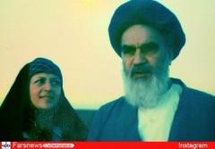 عکس دیده نشده از امام خمینی(ره) و دخترشان