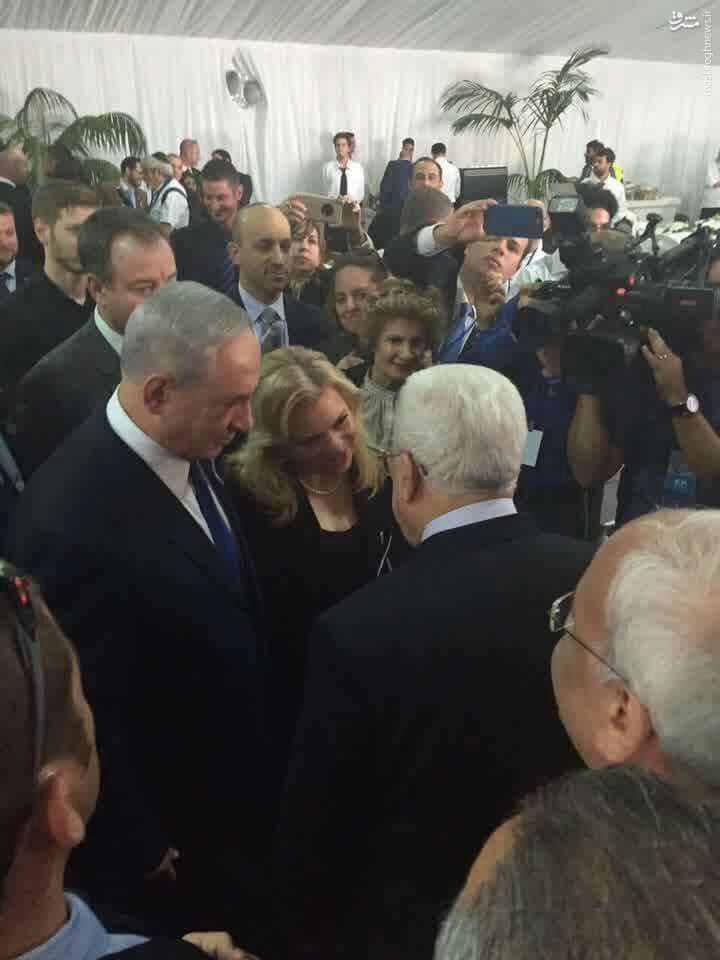 حضور محمود عباس در مراسم دفن پرز!+عکس