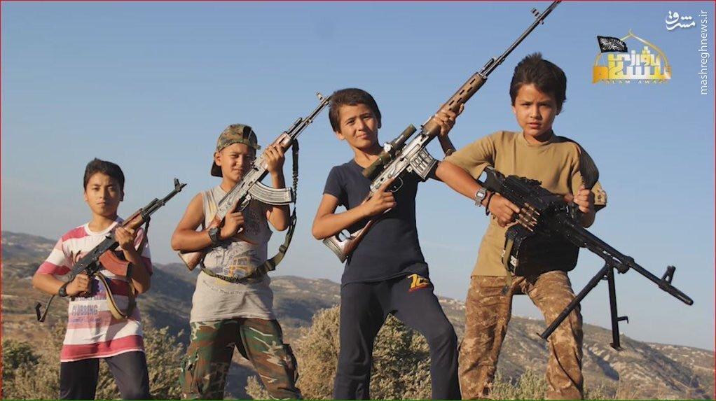 رونمایی القاعده از کودک سربازان چینی در سوریه+عکس