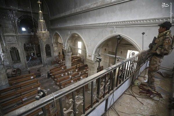 بلایی که داعش بر سر کلیسای 1650ساله موصل آورد +عکس