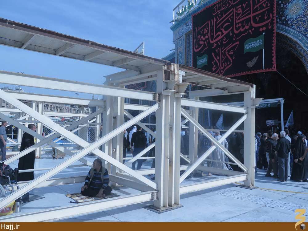 عملیات ساخت پل جدید بینالحرمین آغاز شد +عکس