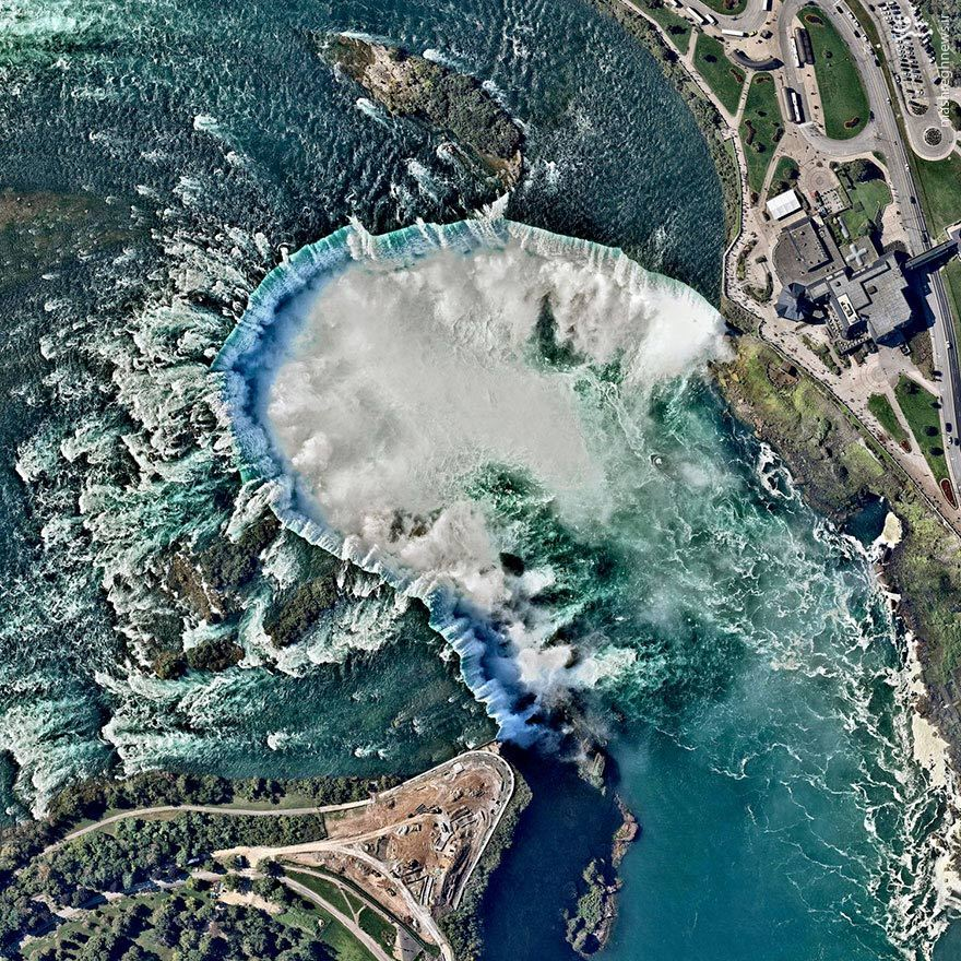 عکس/ نمایی دیدنی از آبشار نیاگارا