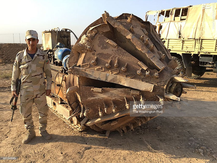 عکس/ ماشین پیشرفته حفر تونل داعش