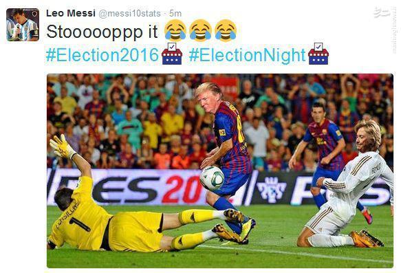 روایت جالب مسی از انتخابات آمریکا +عکس