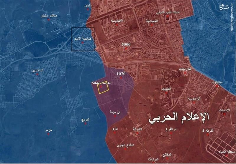 آشفتگی تکفیریها و درگیری سنگین در غرب«حلب» +نقشه