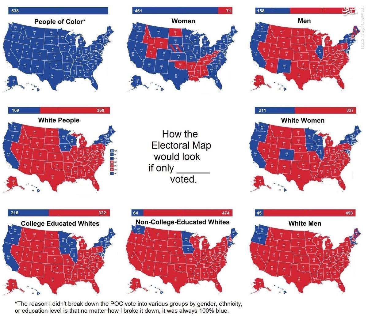 رأیدهندگان به ترامپ چه کسانی بودند؟ + نمودار