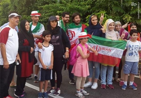 هواداران ایرانی سوریها را غافلگیر کردند +عکس