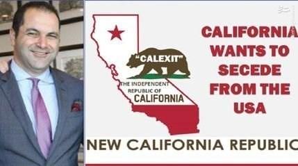 یک ایرانی در پشت پرده جداییطلبی کالیفرنیا؟ + عکس