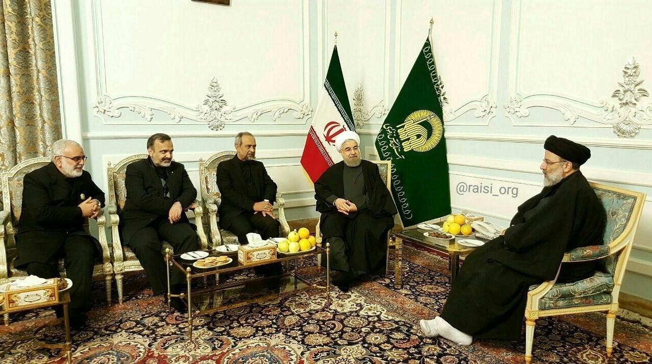 عکس/ دیدار رئیسجمهور با تولیت آستان قدس رضوی