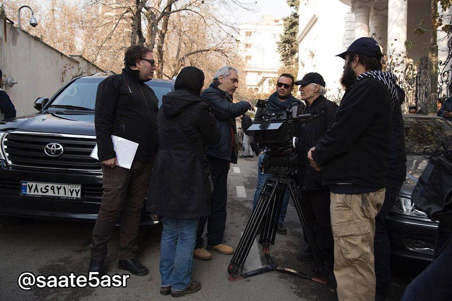 مهران مدیری در پشت صحنه اولین فیلماش+عکس