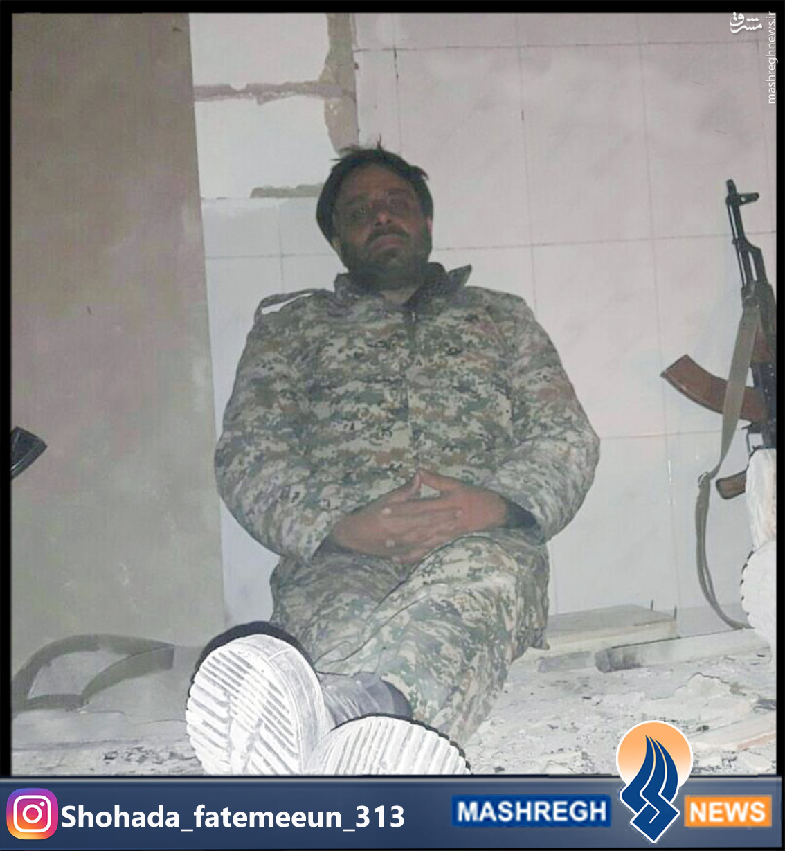 عکس/آخرین شهید مدافع حرم، دو ساعت قبل از شهادت