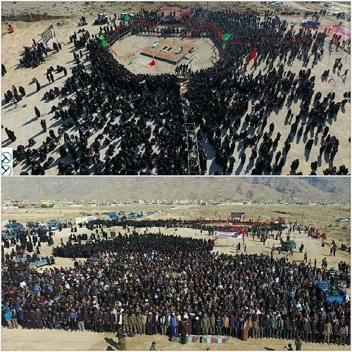 عکس/ سنگ تمام دارابی ها برای شهدای گمنام