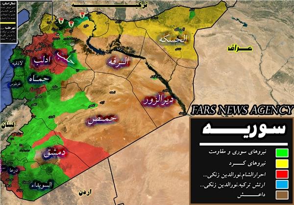 کدام مناطق سوریه تحت کنترل ارتش است؟ نقشه