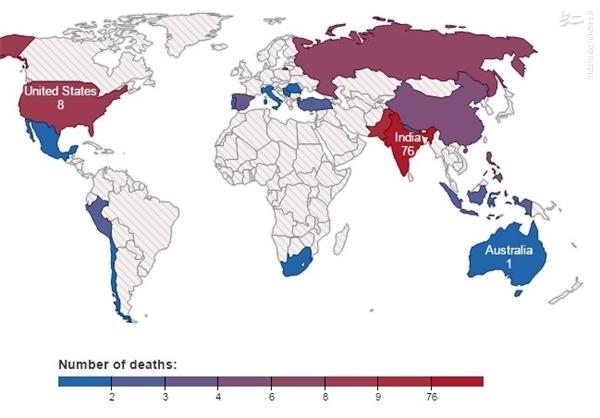 کدام شهر رکورددار آمار کشتهشده بر اثر سلفی است